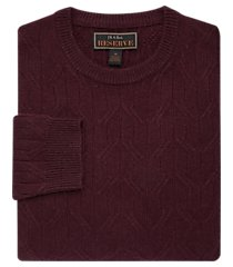 reserve collection tailored fit wool blend crew neck men's sweater clearance