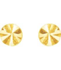 orecchini a lobo in oro giallo cerchio per donna