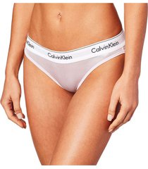 panties bikini modern cotton wet look rosa calvin klein