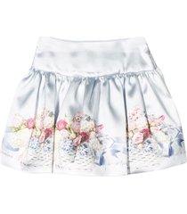monnsalisa floral print skirt