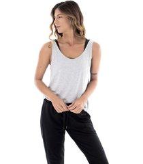 camiseta manga sisa relax - mujer