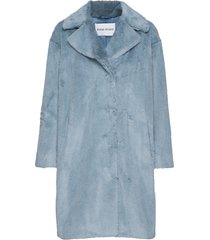camille cocoon coat outerwear faux fur blå stand studio