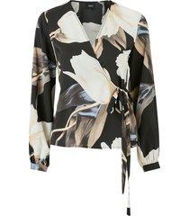 omlottblus objpania l/s wrap blouse