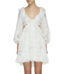 'lulu' open back scallop hem mini dress
