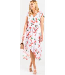 amanda floral wrap dress - multi