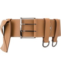 maison vaincourt envelope pocket belt - brown