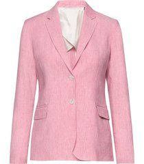 d2. stretch linen regular blazer blazers business blazers roze gant