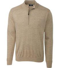 cutter and buck men's big and tall long sleeves douglas half zip mock sweater