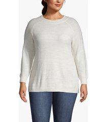 lane bryant women's blouson-sleeve shimmer sweater 18/20 cream