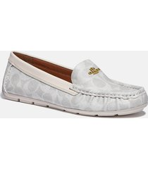 coach women's marley coated canvas driving shoes - chalk - uk 7
