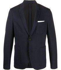 neil barrett blazer com bolsos - azul