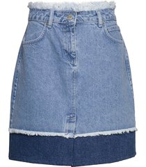 norma denim skirt kort kjol blå just female