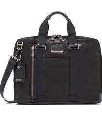 men's tumi bravo aviano slim briefcase - black