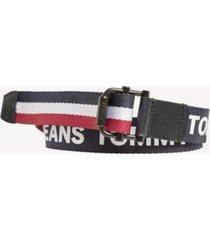 tommy hilfiger men's tommy jeans webbed belt tommy navy / corporate - 38