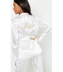 bride wikkel pyjama set, ivoor