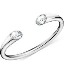 calvin klein crystal cuff bracelet in stainless steel