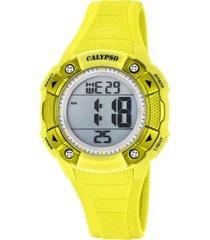 reloj color run amarillo calypso