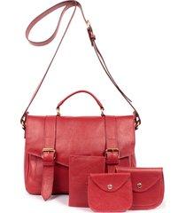 bolsa yasrro em couro sarah vermelho acessórios