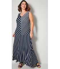 jersey jurk sara lindholm marine::wit