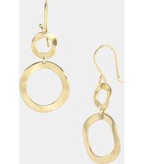 ippolita 'plain - mini snowman' 18k gold drop earrings in yellow gold at nordstrom