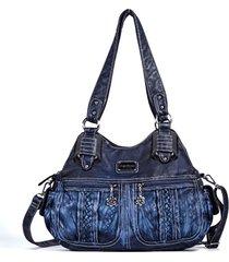 tracolla da donna a tracolla borsa a quattro tasche borsa