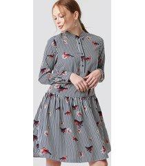 rut&circle flower stripe dress - multicolor
