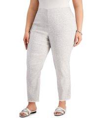 alfani petite fringe hem ankle pants, created for macy's