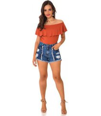 shorts jeans express hot pants duo feminino