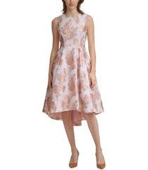 calvin klein jacquard high-low dress