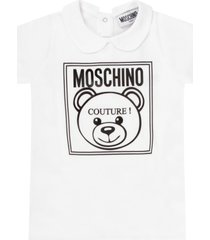 moschino white dress for baby kid with teddy bear