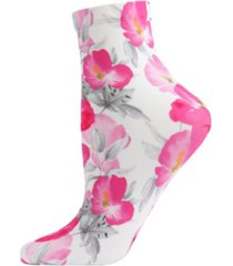 pansy printed women's anklet socks