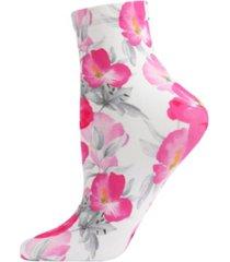 pansy printed women's anklet socks
