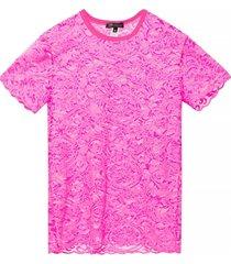lace-trimmed t-shirt