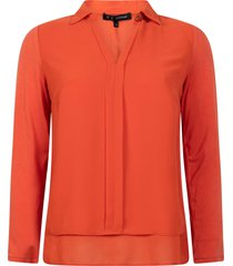 tramontana blouse winter orange