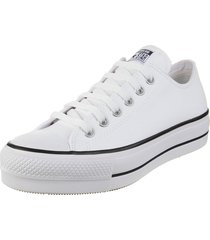 zapatilla blanca converse chuck taylor all star platform leather