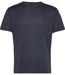 explore tee m night sky/mood i/heather t-shirts short-sleeved blå salomon