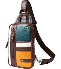 vintage casual shoulder borsa petto borsa sling borsa crossbody borsa for men