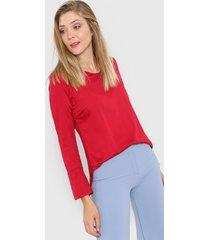 blusa roja etam perla