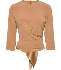 kiana blouse blouses short-sleeved beige andiata