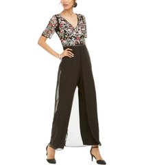 adrianna papell embellished walk-through jumpsuit