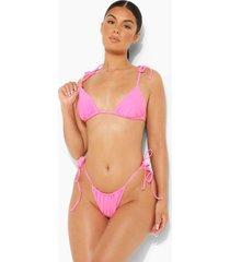 driehoekige bikini top met schouderstrikjes