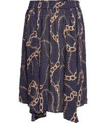 xandi, asymmetric, skirt knälång kjol blå zizzi