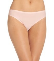 women's chantelle lingerie soft stretch thong, size one size - pink