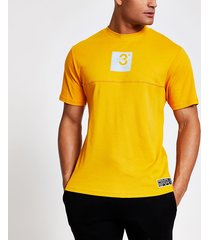 river island mens prolific mustard regular fit t-shirt