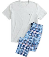 nautica men's t-shirt and flannel pants pajama set