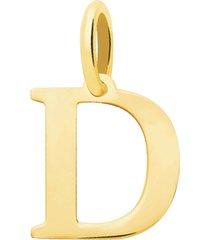 ciondolo lettera d in oro giallo per donna