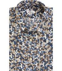 beige/multicolour cotton floral-print cotton shirt