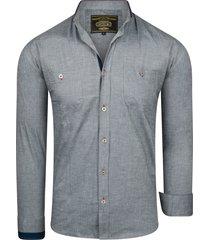 ombre edgar casual overhemd grey