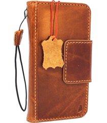 genuine leather case for google pixel 2 book wallet cover magnet closure vintage