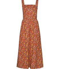 dreaiw dress jurk knielengte oranje inwear